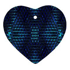 Vibrant Pattern Colorful Seamless Pattern Heart Ornament (two Sides) by Simbadda