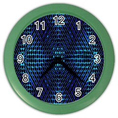 Vibrant Pattern Colorful Seamless Pattern Color Wall Clocks by Simbadda