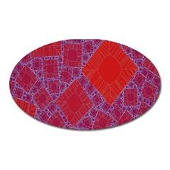 Voronoi Diagram Oval Magnet by Simbadda