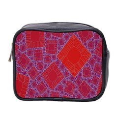 Voronoi Diagram Mini Toiletries Bag 2 Side by Simbadda