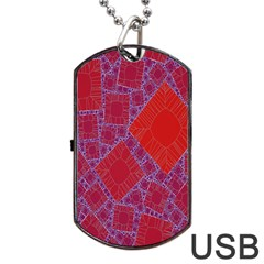 Voronoi Diagram Dog Tag Usb Flash (two Sides) by Simbadda
