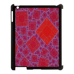 Voronoi Diagram Apple Ipad 3/4 Case (black) by Simbadda
