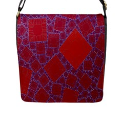 Voronoi Diagram Flap Messenger Bag (l)  by Simbadda