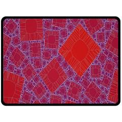 Voronoi Diagram Double Sided Fleece Blanket (large)  by Simbadda