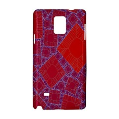Voronoi Diagram Samsung Galaxy Note 4 Hardshell Case by Simbadda