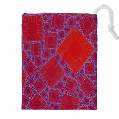 Voronoi Diagram Drawstring Pouches (xxl) by Simbadda