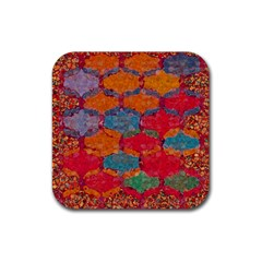Abstract Art Pattern Rubber Square Coaster (4 Pack)  by Simbadda
