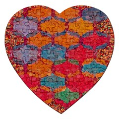 Abstract Art Pattern Jigsaw Puzzle (heart) by Simbadda