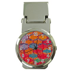 Abstract Art Pattern Money Clip Watches by Simbadda