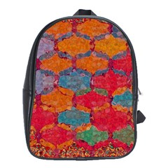 Abstract Art Pattern School Bags (xl)  by Simbadda
