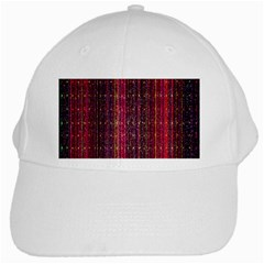 Colorful And Glowing Pixelated Pixel Pattern White Cap by Simbadda
