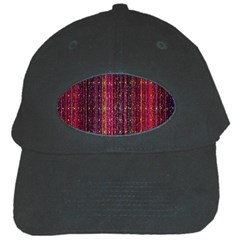 Colorful And Glowing Pixelated Pixel Pattern Black Cap by Simbadda