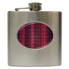 Colorful And Glowing Pixelated Pixel Pattern Hip Flask (6 Oz) by Simbadda