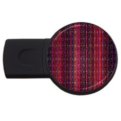 Colorful And Glowing Pixelated Pixel Pattern Usb Flash Drive Round (2 Gb) by Simbadda
