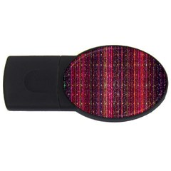 Colorful And Glowing Pixelated Pixel Pattern Usb Flash Drive Oval (2 Gb) by Simbadda