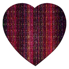 Colorful And Glowing Pixelated Pixel Pattern Jigsaw Puzzle (heart) by Simbadda