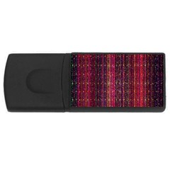 Colorful And Glowing Pixelated Pixel Pattern Usb Flash Drive Rectangular (4 Gb) by Simbadda