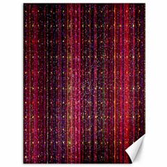 Colorful And Glowing Pixelated Pixel Pattern Canvas 36  X 48   by Simbadda