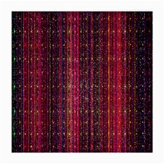 Colorful And Glowing Pixelated Pixel Pattern Medium Glasses Cloth by Simbadda
