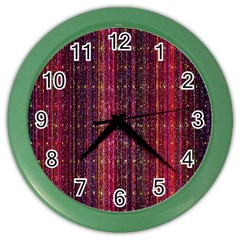 Colorful And Glowing Pixelated Pixel Pattern Color Wall Clocks by Simbadda
