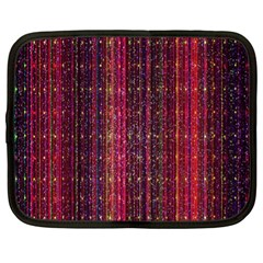 Colorful And Glowing Pixelated Pixel Pattern Netbook Case (xl)  by Simbadda