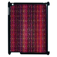 Colorful And Glowing Pixelated Pixel Pattern Apple Ipad 2 Case (black) by Simbadda