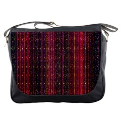 Colorful And Glowing Pixelated Pixel Pattern Messenger Bags by Simbadda