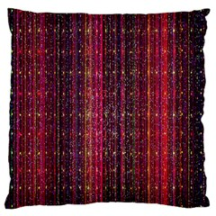Colorful And Glowing Pixelated Pixel Pattern Large Cushion Case (two Sides) by Simbadda