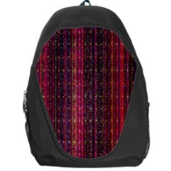 Colorful And Glowing Pixelated Pixel Pattern Backpack Bag by Simbadda
