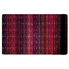 Colorful And Glowing Pixelated Pixel Pattern Apple Ipad 3/4 Flip Case by Simbadda