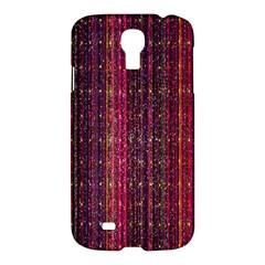 Colorful And Glowing Pixelated Pixel Pattern Samsung Galaxy S4 I9500/i9505 Hardshell Case by Simbadda