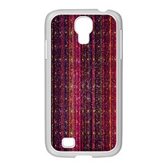 Colorful And Glowing Pixelated Pixel Pattern Samsung Galaxy S4 I9500/ I9505 Case (white) by Simbadda