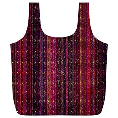 Colorful And Glowing Pixelated Pixel Pattern Full Print Recycle Bags (l)  by Simbadda