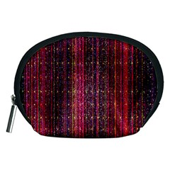 Colorful And Glowing Pixelated Pixel Pattern Accessory Pouches (medium)  by Simbadda