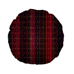 Colorful And Glowing Pixelated Pixel Pattern Standard 15  Premium Flano Round Cushions by Simbadda