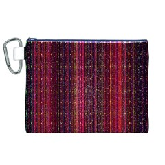 Colorful And Glowing Pixelated Pixel Pattern Canvas Cosmetic Bag (xl) by Simbadda