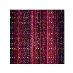 Colorful And Glowing Pixelated Pixel Pattern Small Satin Scarf (square) by Simbadda