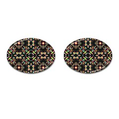 Abstract Elegant Background Pattern Cufflinks (oval) by Simbadda