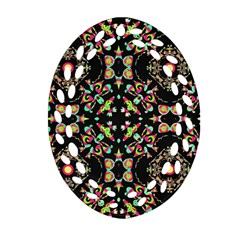 Abstract Elegant Background Pattern Oval Filigree Ornament (two Sides) by Simbadda