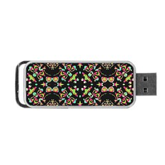 Abstract Elegant Background Pattern Portable Usb Flash (two Sides) by Simbadda