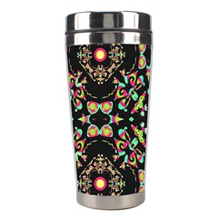 Abstract Elegant Background Pattern Stainless Steel Travel Tumblers by Simbadda
