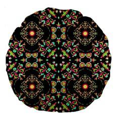 Abstract Elegant Background Pattern Large 18  Premium Flano Round Cushions by Simbadda