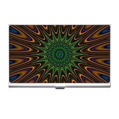 Vibrant Colorful Abstract Pattern Seamless Business Card Holders by Simbadda