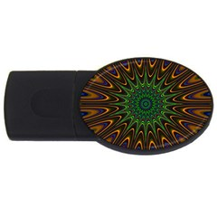 Vibrant Colorful Abstract Pattern Seamless Usb Flash Drive Oval (4 Gb) by Simbadda