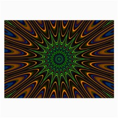 Vibrant Colorful Abstract Pattern Seamless Large Glasses Cloth (2 Side) by Simbadda