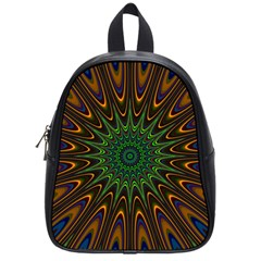 Vibrant Colorful Abstract Pattern Seamless School Bags (small)  by Simbadda