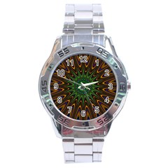 Vibrant Colorful Abstract Pattern Seamless Stainless Steel Analogue Watch by Simbadda