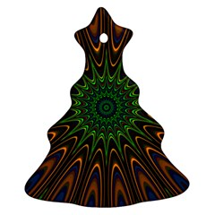 Vibrant Colorful Abstract Pattern Seamless Christmas Tree Ornament (two Sides) by Simbadda