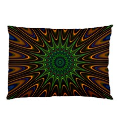 Vibrant Colorful Abstract Pattern Seamless Pillow Case (two Sides) by Simbadda