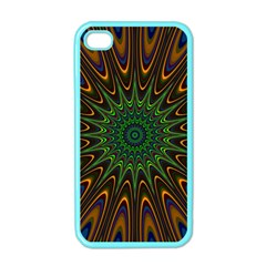Vibrant Colorful Abstract Pattern Seamless Apple Iphone 4 Case (color) by Simbadda